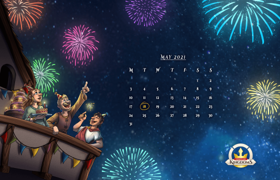 1400x900 px BBash 2021 desktop background calendar