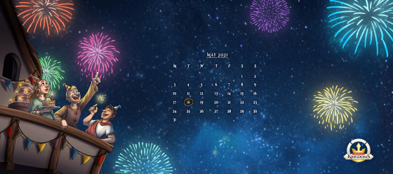 2560x1440 px BBash 2021 desktop background calendar