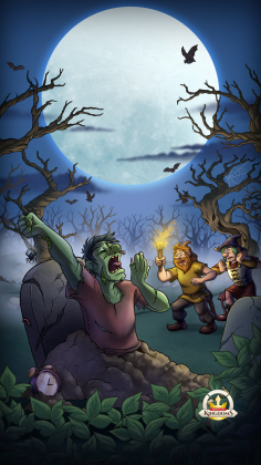Halloween Hunt 2021 mobile background blank